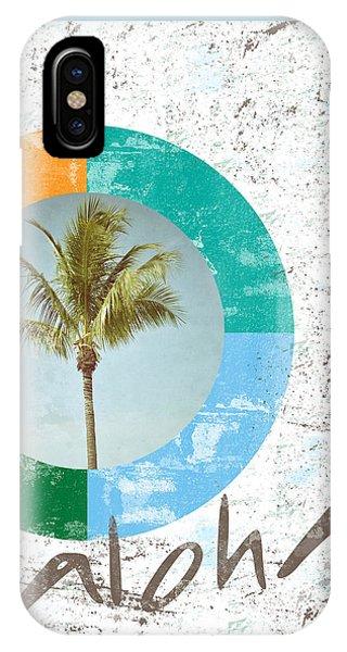 Tropical iPhone Case - Aloha Palm Tree by Brandi Fitzgerald