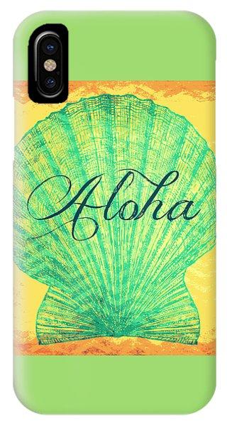 Tropical iPhone Case - Aloha Shell by Brandi Fitzgerald