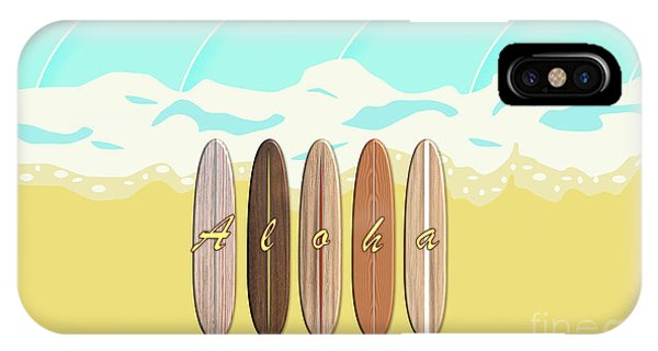 Aloha Surf Wave Beach IPhone Case