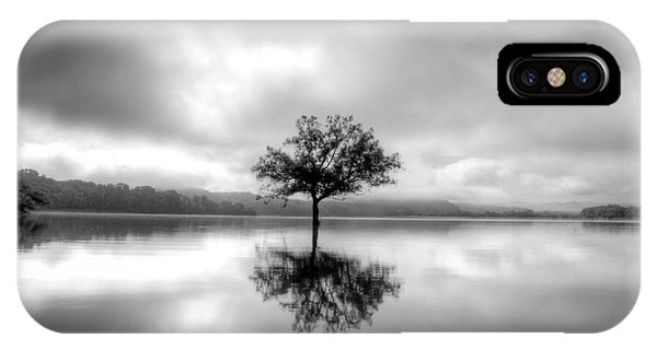 Alone Bw IPhone Case