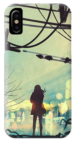Alone In The Abandoned Town#2 IPhone Case