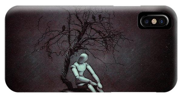 Gloomy iPhone Case - Alone In The Dark by Tom Mc Nemar