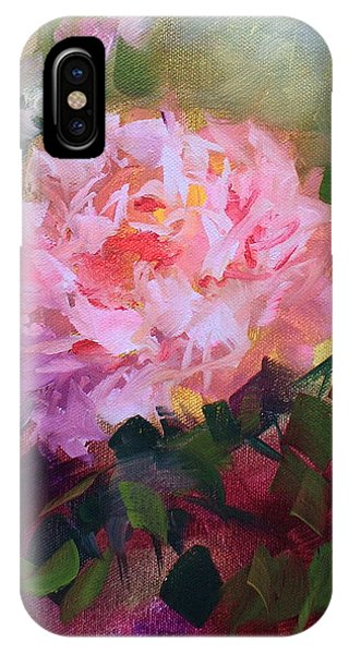 iPhone Case - Alone In The Garden - Pink Peony by Nancy Medina