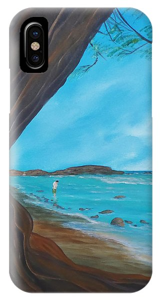 Alone On The Beach IPhone Case