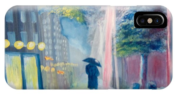 IPhone Case featuring the painting Alone by Saundra Johnson