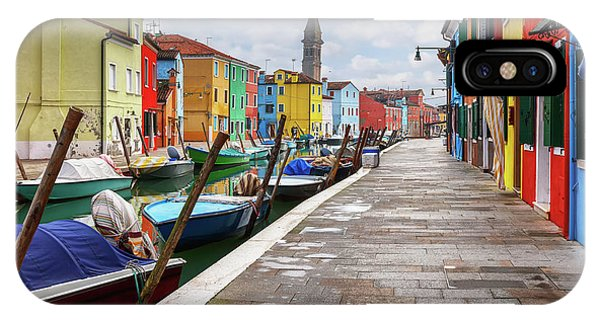 Along The Canal In Burano Island IPhone Case