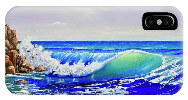 IPhone Case featuring the painting Along The Coast by Mary Scott