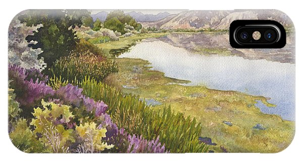 Alga iPhone X Case - Along The Oregon Trail by Anne Gifford