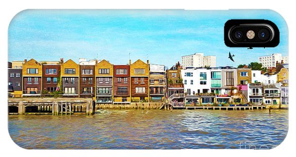 Condo iPhone Case - Along The River Thames by Laura D Young