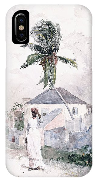 Homer iPhone Case - Along The Road   Bahamas 1885 by Winslow Homer