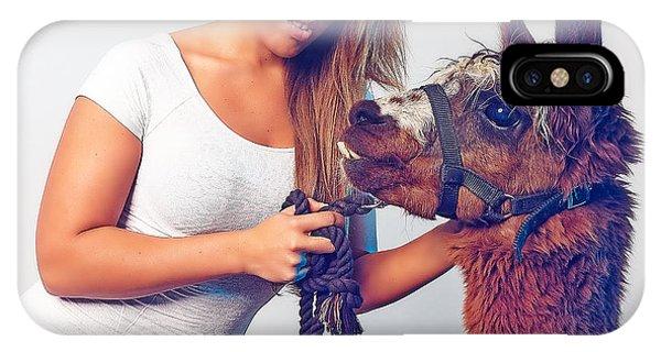 Alpaca Mr. Tex And Breanna IPhone Case
