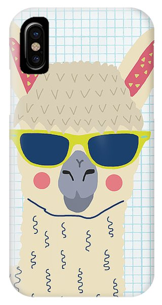 Llama iPhone Case - Alpaca by Nicole Wilson