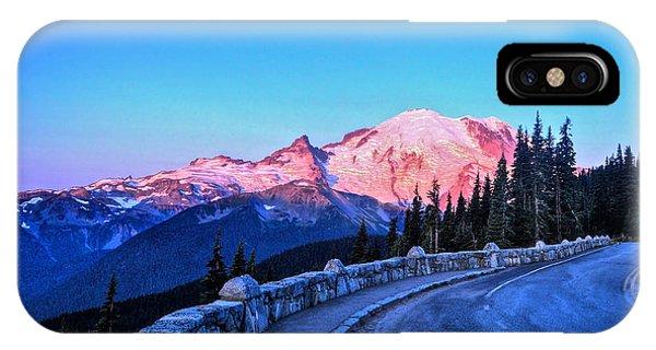 Alpenglow At Mt. Rainier IPhone Case