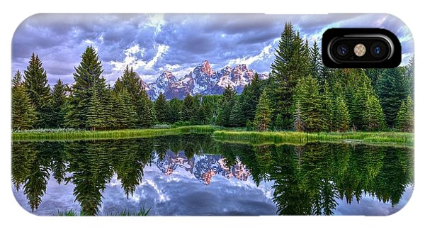 Alpenglow In The Tetons IPhone Case