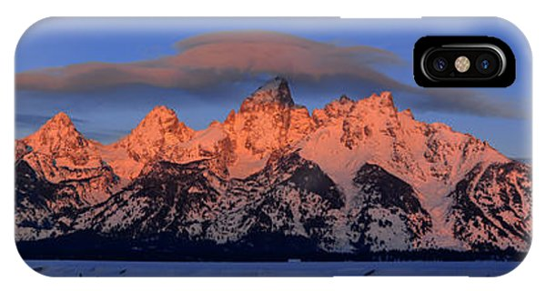Alpenglow Tetons 2 IPhone Case