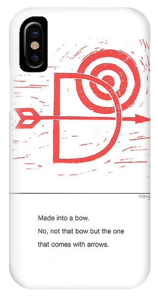 Alphabet Haiku Letter D IPhone Case