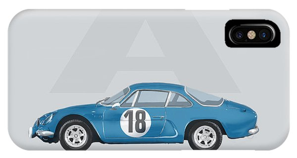 IPhone Case featuring the mixed media Alpine A110 by TortureLord Art