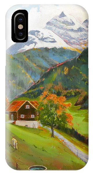 Alpine Farm Near Buerglen In Canton Uri IPhone Case
