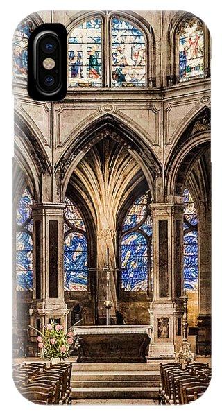 Paris, France - Altar - Saint-severin IPhone Case