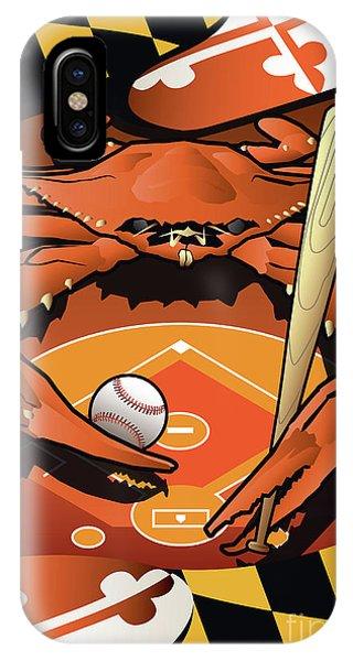 Baltimore Orioles Baseball Crab Maryland IPhone Case