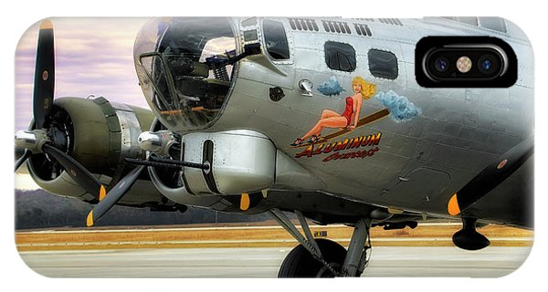 IPhone Case featuring the photograph Aluminum Overcast - B-17 - World War II by Jason Politte