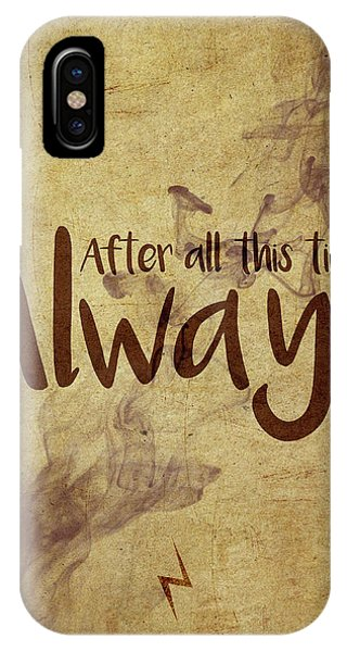 Wizard iPhone X / XS Case - Always by Samuel Whitton