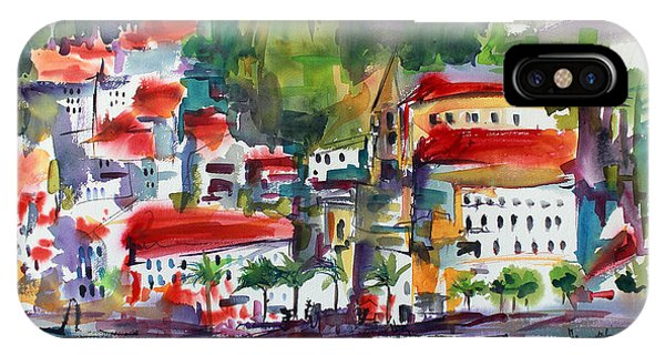 Amalfi Coast Italy Expressive Watercolor IPhone Case