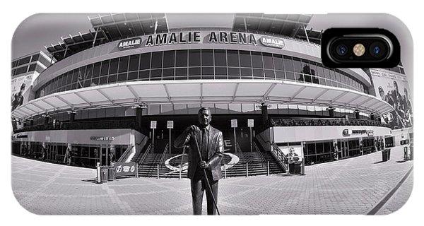 Amalie Arena Black And White IPhone Case