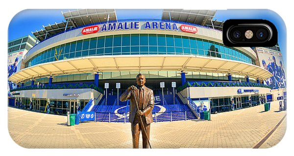 IPhone Case featuring the photograph Amalie Arena by Lisa Wooten