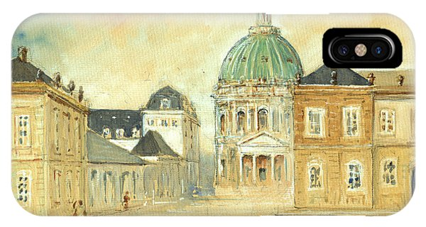 Palace iPhone X Case - Amalienborg Palace Copenhagen by Juan  Bosco