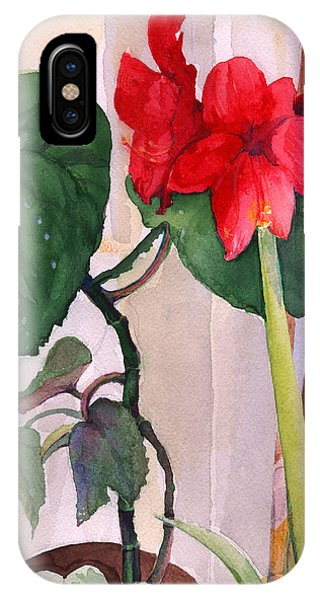 Amaryllis And Begonia IPhone Case