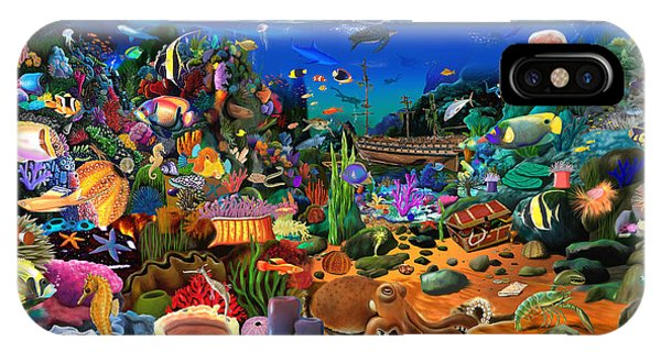 Scuba Diving iPhone Case - Amazing Coral Reef by MGL Meiklejohn Graphics Licensing