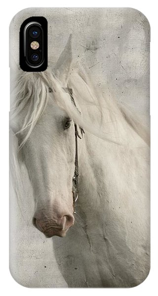 White Horse iPhone Case - Amazing Grace by Dorota Kudyba