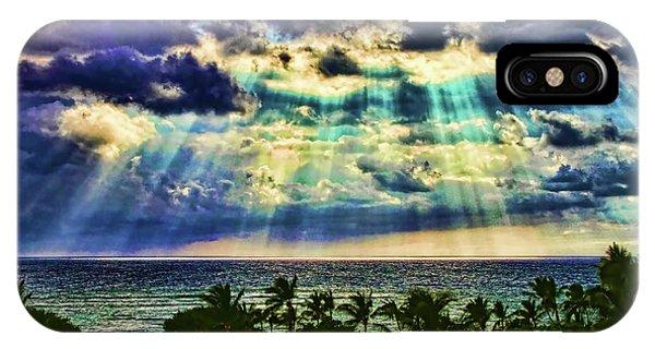 Amazing Grace - Sun Rays Before Sunset By Diana Sainz IPhone Case