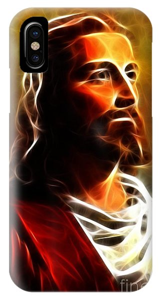 Spirituality iPhone Case - Amazing Jesus Portrait by Pamela Johnson