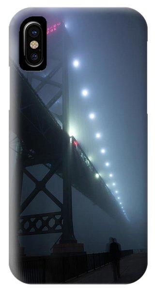 Ambassador Bridge In Fog IPhone Case