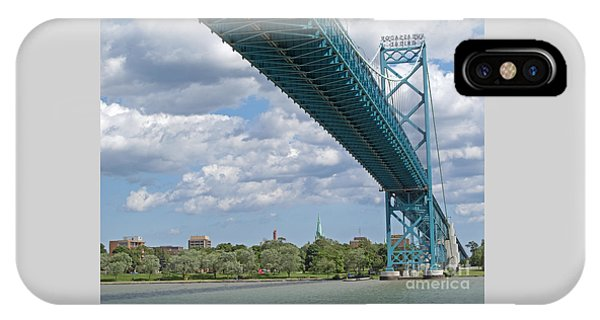 Ambassador Bridge - Windsor Approach IPhone Case