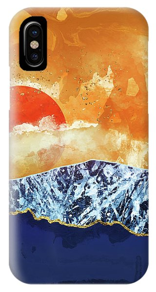 Abstract Landscape iPhone Case - Amber Dusk by Katherine Smit