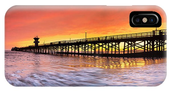 Amber iPhone Case - Amber Seal Beach Pier by Sean Davey