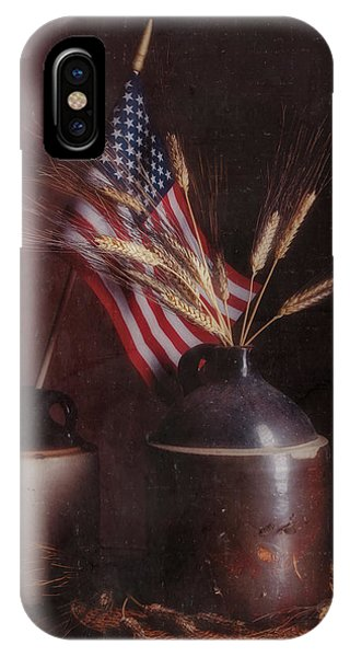 Stars And Stripes iPhone Case - Amber Waves Of Grain by Tom Mc Nemar