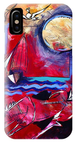 Ameeba 34-horse And Sailboat IPhone Case