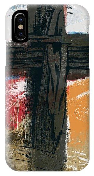 Christian Cross iPhone Case - Amen Contemporary Cross- Art By Linda Woods by Linda Woods