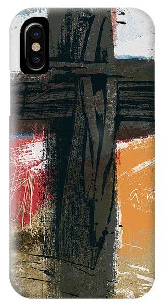 Cross iPhone X Case - Amen Contemporary Cross- Art By Linda Woods by Linda Woods