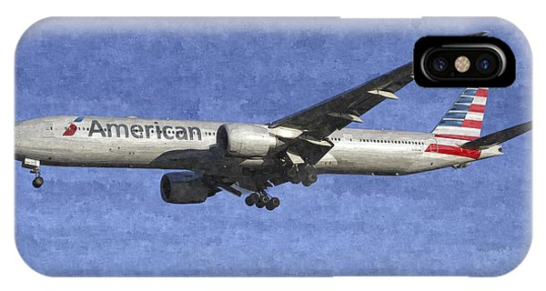 American Airlines Boeing 777 Aircraft Art IPhone Case