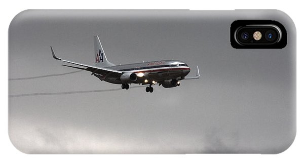 American Airlines-landing At Dfw Airport IPhone Case