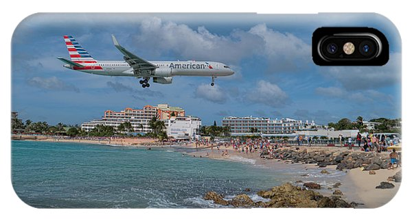 American Airlines Landing At St. Maarten Airport IPhone Case