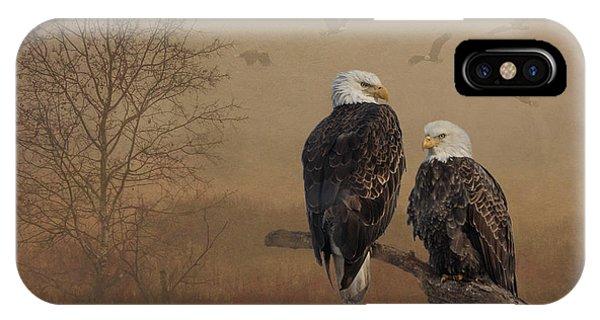 American Bald Eagle Family IPhone Case