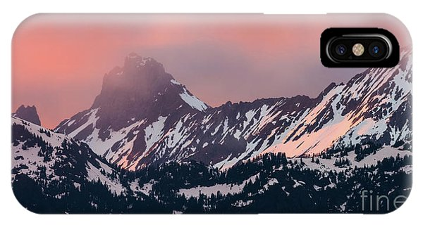 American Border Peak And Mount Larrabee At Sunset IPhone Case
