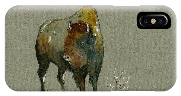 Mammals iPhone Case - American Buffalo by Juan  Bosco