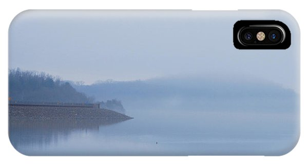 American Coot In Misty Fog 20120316_40a IPhone Case